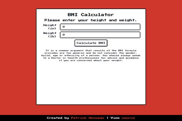 React BMI Calculator