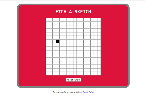 Etch-A-Sketch App