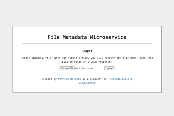 File Metadata Microservice