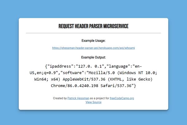 Request Header API/Microservice