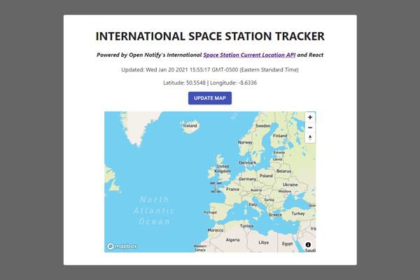 React Internation Space Station Tracker