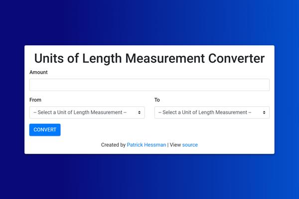 React Units of Length Measurement Converter