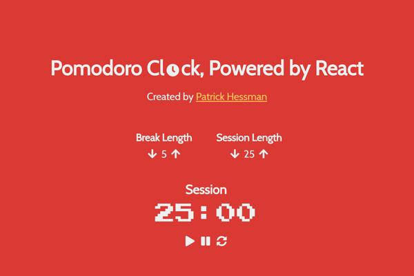 React Pomodoro Clock