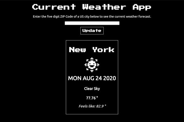 Weather Forecast React App