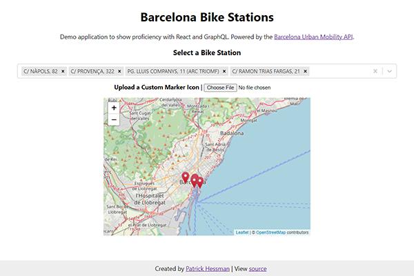 Barcelona Bike Station Browser